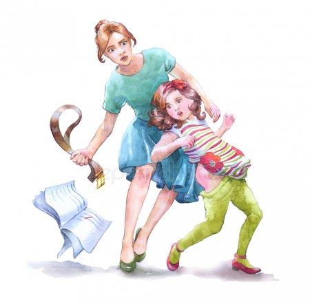 Наказание ремнем по попе детей
